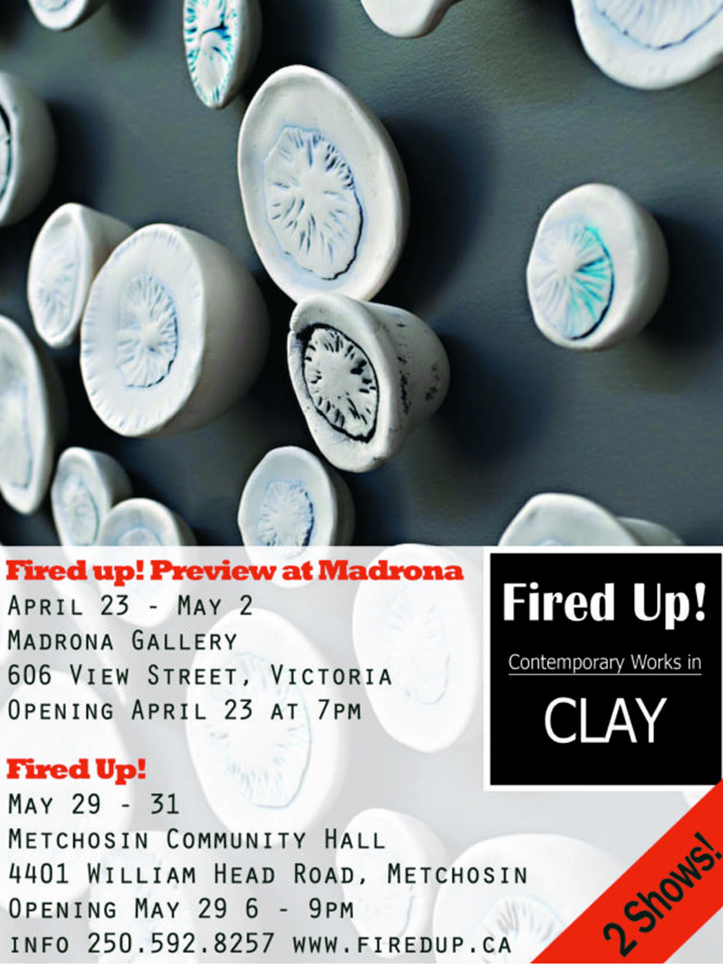 Fired Up! Exhibition at Madrona Gallery, Victoria BC