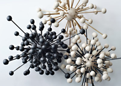 Atoms.  Porcelain and steel.  2017.  Photo credit: Cathie Ferguson
