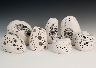 Carved porcelain.  2016.  Photo credit: Cathie Ferguson