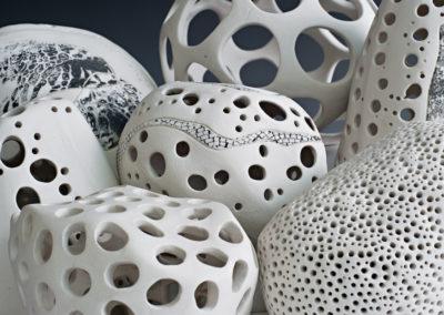 Carved porcelain.  2017.  Photo credit: Cathie Ferguson