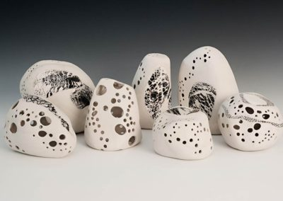 Carved porcelain.  2016.  Photo credit: Cathie Ferguson